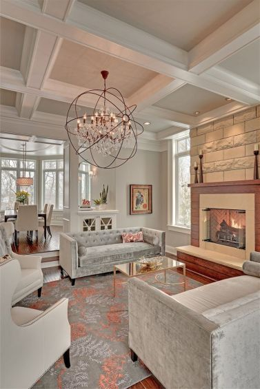 I love the grandeur that a Coffered ceiling brings to a space. One day I will have one in my dining room.